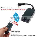 5-30m remote distance 1 to 2 Wireless Remote Control AC Power Socket US plug Outlet Switch 110/120V