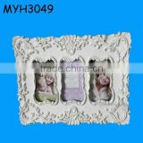 polyresin resin baroque picture frame 3pcs frames