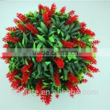 man made craft decoration 30cm Diameter red green grass ball