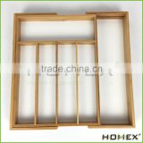 Bamboo Solid Cutlery Tray for Spoons Utensils Homex BSCI/Factory