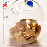 Creative the clear new apple transparent piggy bank/money-box/saving box/Arts and crafts home furnishing articles a birthday pre