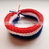 Hot new bestselling product wholesale alibaba world cup Handmade bracelet knitted hemp bracelet in Dutch color made in China