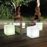 under table led light/RGB Decorative Led Cube RGB Outdoor Seat Led Cube