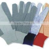 pvc dots drill cotton gloves FCG003