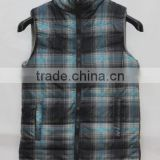 Fleece sleeveless jacket vest for boys padded vest in stock