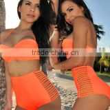 Women's Wrap Halter Bikinis Sets Swimwear swimwear from china Large Size Bandeau Padded Swimsuit SV003179