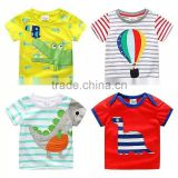 2016 Trending Products Children Stripe Tshirts with Cartoon Pattern