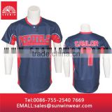Custom made sewing pattern baseball jersey hot sale