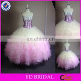 NC928 Stunning Stone Beaded Corset Ball Gown Two Tone Quinceanera Dress