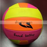 Super soft PVC foamed official size volleyball,beach playing adult