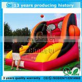 fun outdoor inflatable basketball game hoop