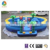 high quality PVC material inflatable funland, commercial bounce houses for kids
