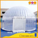 2015 AOQI sealed transparent inflatable dome tent for trade show