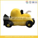 Design your own promotional cartoon toy plush excavator