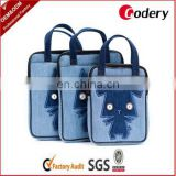 Cute design denim laptop bag for promotion