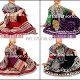 Afghan Kuchi Silk Embroidered With Tassels Frock - Afghan tribal Kuchi dress- Ethnic Kuchi Banjara boho Hippie Dress