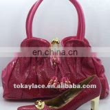 fashion classly lady shoes and handbag set