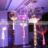 Christmas decoration 2018 led helium baloon light with battery sheet glow balloons