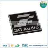 3D brand logo diamond cut metal nameplates,logo embossed aluminum/stainless steel label name plate