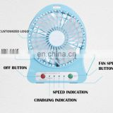 Custom Logo Winhoo Desk usha fans list Rechargeable Led Plastic Fan
