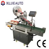automatic food filled bag top side sticker flat labeling machine