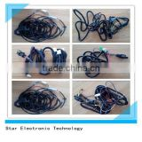 UL approved hid light auto wire harness automotive light wire cable harness assembly with relay socket switch and DT connectors
