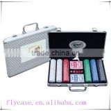 carrying aluminum metal poker chip set premium poker chip game set in aluminum case(100pcs)