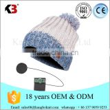 Wholesale winter custom beanie hats with built in headphones