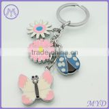 Color Enamel Metal Keyring Animal Butterfly Ladybug Key ring