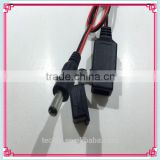 5.5*2.1mm Male DC JACK 2..1A Current Female USB Cable Assembly