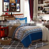 2016 new product flocking design fashion printed bedding set /bed sheet/duvet cover/pillow                                                                         Quality Choice