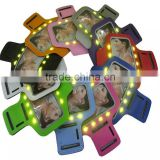 Sports running LED arm band belt case holder for mobile phone