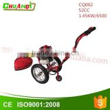 2-Stroke gasoline brush cutter used for cutting grass or rice hand push grass cutter machine with CE certification
