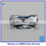 Wholesale Synthetic Rectangle Shape Cut white Cubic Zirconia/CZ Gemstone of made in China