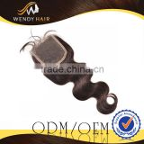 2014 New Products Hot Sales Delightful Ideal 5A Indian Human Hair Lace Closure