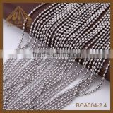 wholesale 2.4mm stainless steel ball chain for curtain