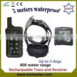 400meter LCD Display multi-dog system dog sex eu video tag adilia dog training collar