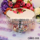Mirror face wedding cake stand with crystal , royal cake stand wedding for wedding&party&hotel decoration(CAKE-008)