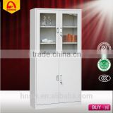 high quality steel file cabinet metal locker glass door/ office furniture/living room disapy cabinet