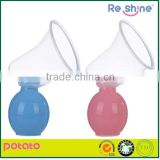 Nursing bottle silicone nipple hand Manual breast pump sucking with baby feeding bottle
