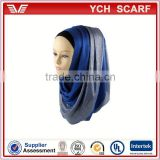 Pantone color dyeing islamic hijab fabric in Solid Color                                                                         Quality Choice