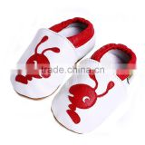 Genuine Leather Outsole Material and Leather Upper Material soft sole leather baby shoes handmade