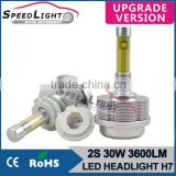 Speedlight New Version 30W 3600LM 2S Car LED Lighting Wholesale LED Car Bulb