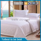 ToBest Wholesale plain white Egyption cotton hotel bedding set / bed sheets / hotel linen