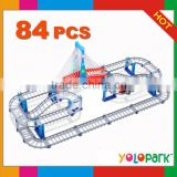 B/O Railway Car Toys With Lights & Music 84PCS,B/O railway car toys,Building blocks rail train,electric toy train