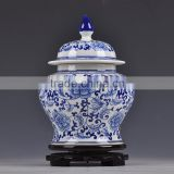 Blue and white chinese antiques collectibles ginger jar