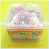 colorful star hard candy in a candy shape box