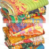 indian print kantha throws