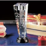 Nice crystal candle holder with 3d laser engraved
