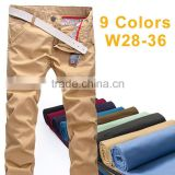 mens baggy chino trousers pants - OEM high waist slimming pants